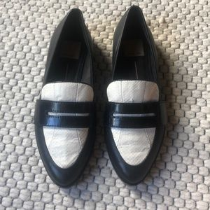 black & white dolce vita loafers - wingtip style